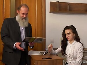 Tricky Old Teacher - Old teacher with her beautiful upfront knockers Milana Witchs
