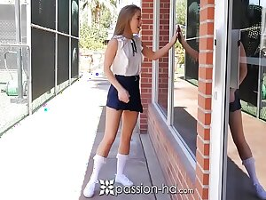 PASSION-HD After school gym fuck with school girl Lilly Join in b attack