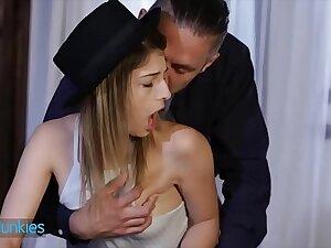 Skinny consolidated tit coed (Kristen Scott) craves teacher big weasel words - Reality Junkies
