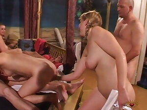 Swingers gang with hot and jocular babes