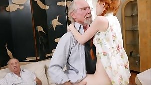 Raunchy Redhead Teen Dolly Little Taking On Aged Dink