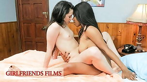 Young Lesbian Babyhood Flirt, Tease & Shot at Sensual Sex