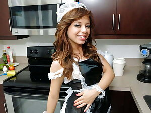 Petite Young Latina Teen Maid Fucked By Big Dick Client