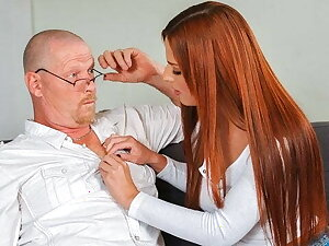 DADDY4K. Red-haired neonate doesnt mind having an affair