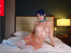 Picking Up Blue Haired Rave Cam Coddle Jewelz  - BananaFever AMWF