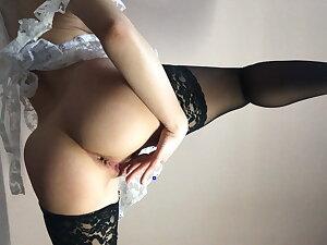 Hot Adult Cookie in School Uniform Masturbates Pussy apropos Orgasm