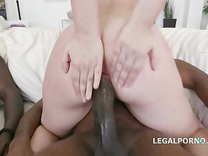 Barely legal 18-year-old Selvaggia DAP'ed to the extreme wits 3 black dicks
