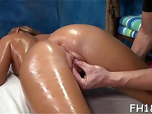 Very hot 18 year old pretty gets fucked hard from resting with someone abandon by her massagist