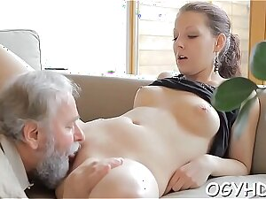 Juvenile hotty fucked by old goat