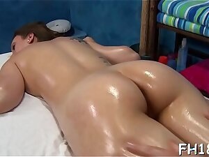 Hot with the addition of lascivious 18 year old slut gets a hard fuck from her massage therapist