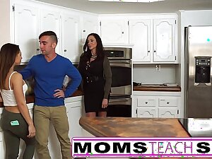 Mother fucks laddie and privy Latina girlfriend