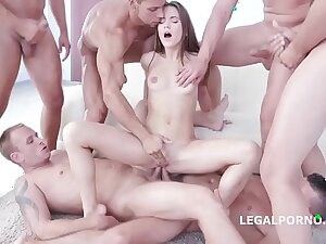 9on1 Facsimile Anal Gang Bang involving SUPER Nympho Evelina Darling!