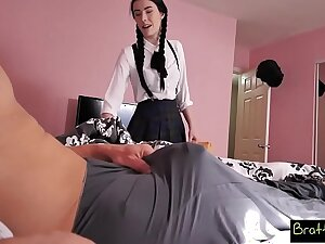 Bratty Sis - Quick Ride On Brother's Huge Cock Before Agglomeration S5:E1