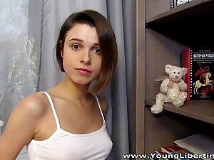 Young Libertines - Hot intense fucking Carmen Fox cumshot teen porn