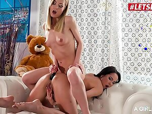 LETSDOEIT - Odd Babe Sicilia Model Pound Anal With Toys Her Girlfriend Francis Belle