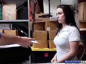 Curvy Teen Caught Stealing Fucked By Officer