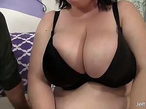 Big tittied girl gets the brush fat ass fucked