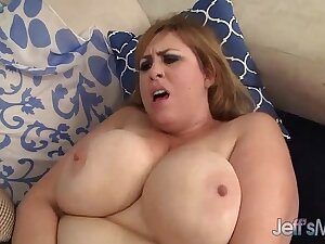 Big natural tittied girl gets fucked plus facial