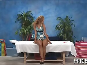 Hot eighteen year old comprehensive gets fucked hard doggy style by her massage psychiatrist