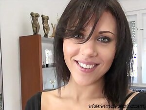 Ukrianian brunette chick Scarlet gets fucked hard by the director Rocco